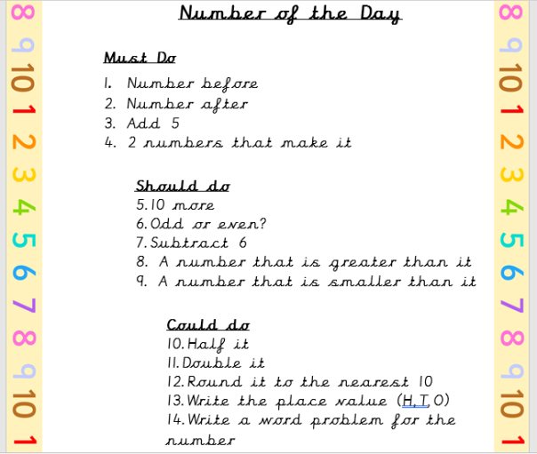 numberday