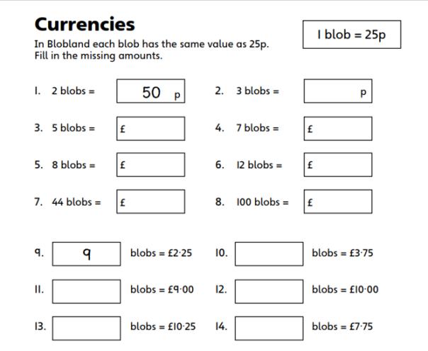 Currencies Week 7 Maths