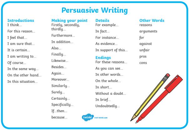 Week 6 Persuasive Writing