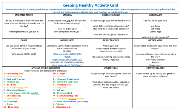 Keeping Healthy Grid website