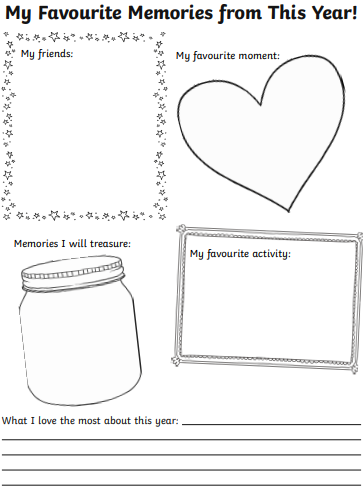 looking back template